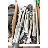 Set of Craftsman socket wrenches and sockets