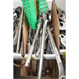 Set of miscellaneous socket wrenches and sockets