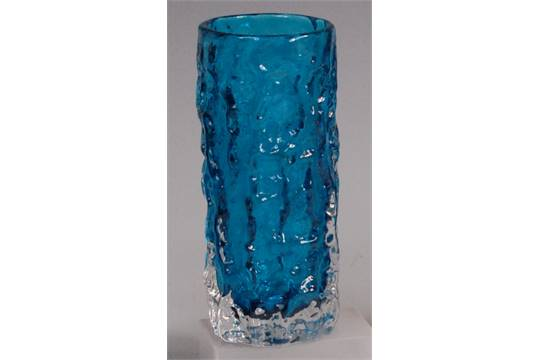 A Whitefriars Glass 39bark39 Vase By Geoffrey Baxter Blue