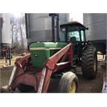 4430 John Deere 2wd Tractor w/Leon FEL, bucket, 7600hrs, 125hp, 20.8-34rr, 2hyd outlets, Quad