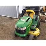 L110 John Deere Lawn Tractor w/Bagger 42in Cut, 17.5hp Kohler Eng