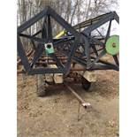 22ft Hay Rack Bale Wagon Farm Trailer 10' Wide