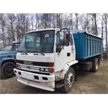 1991 GMC Cab over S/A Grain Truck Scissor hoist, 15.5' Wood Box,Diesel, Roll Tarp, SN