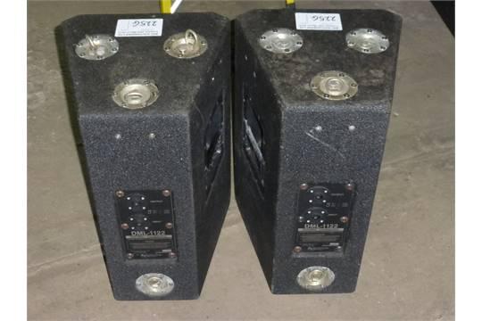 NO VAT: 2 Electro Voice speakers type DML-1122, 8 ohm, 12