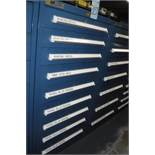 9-Drawer Vidmar Cabinet with Contents-Needles,Bearings,Inner Outer Races,Tapered Bearings, MUST REMO
