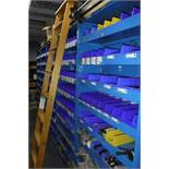Contents of Rack 10-Sections of Racking with Assorted Fastners, 2-Rolling Stock Ladders, Includes sh