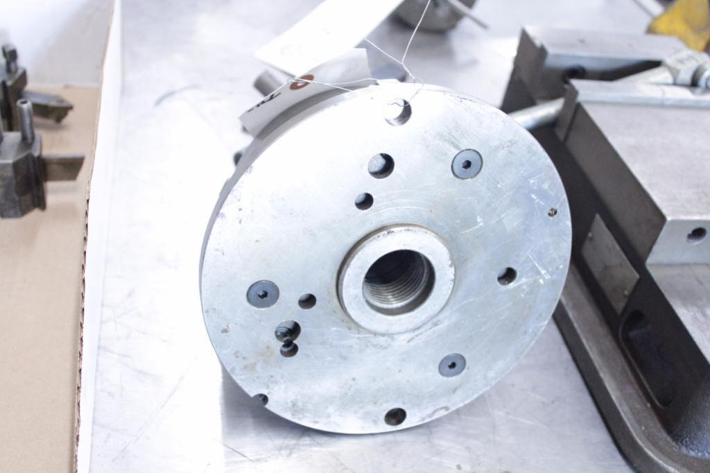 """Lot 13 - 6.25"""" 3 jaw chuck, table mount"""