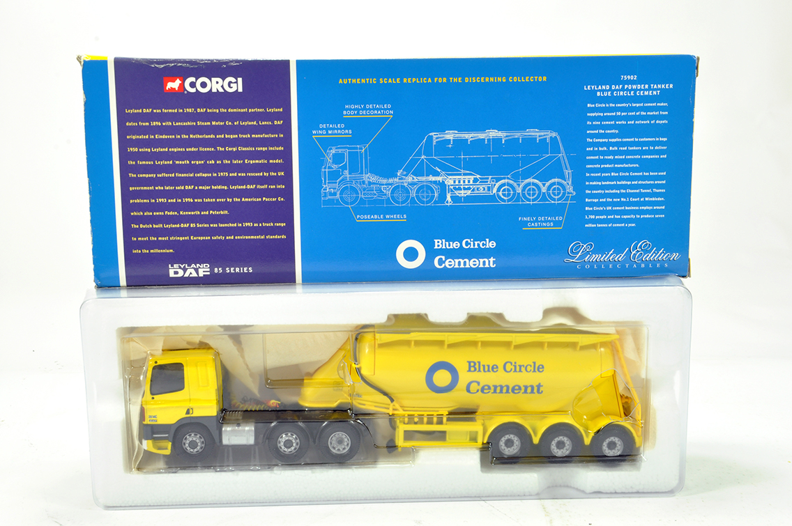 Lot 21 - Corgi 1/50 Diecast Truck Issue Comprising 75902 Leyland DAF Powder Tanker Trailer in livery of