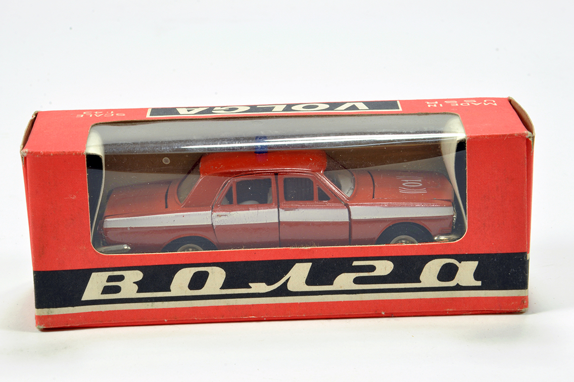 Lot 792 - Russian Made Volga 1/43 Diecast issue comprising Police Car. E to NM in Box.