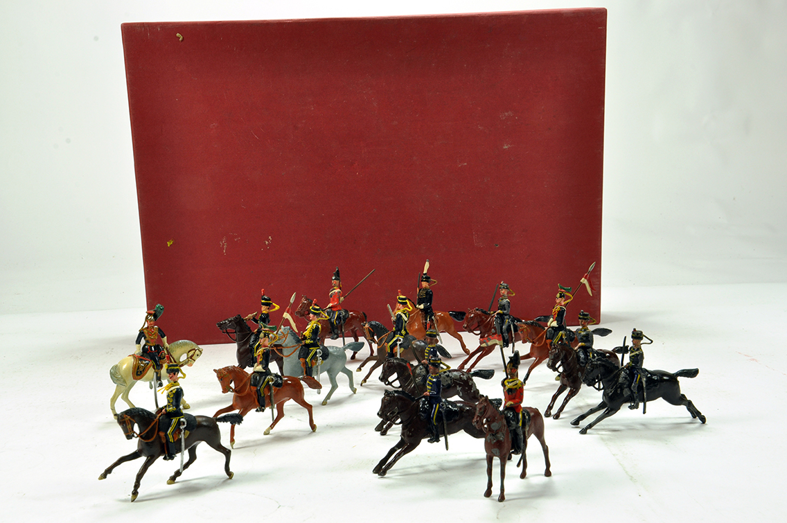 Lot 712 - Mainly Britains selection of lead metal mounted soldiers. Various issues. Some damage to some