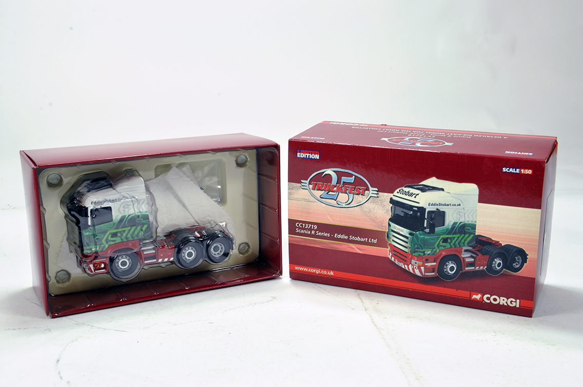 Lot 37 - Corgi 1/50 Diecast Truck Issue Comprising 13719 Scania R Series in livery of Eddie Stobart. NM to
