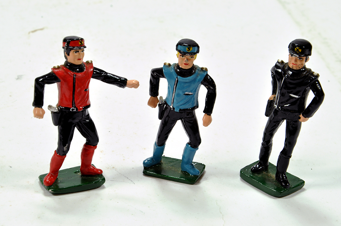 Lot 732 - Various Hand Painted Metal Figure issues comprising Captain Scarlet and others. Generally VG.