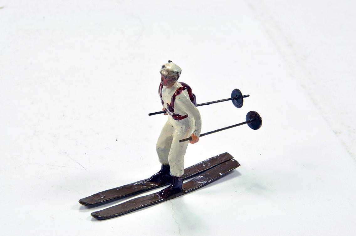 Lot 734 - Britains Issue Metal Figure of a Ski Troop Soldier. VG.