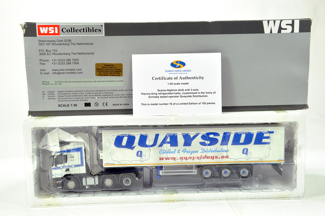 Lot 59 - WSI 1/50 High Detail Diecast Truck Issue comprising Search Impex Scania Highline with Fridge