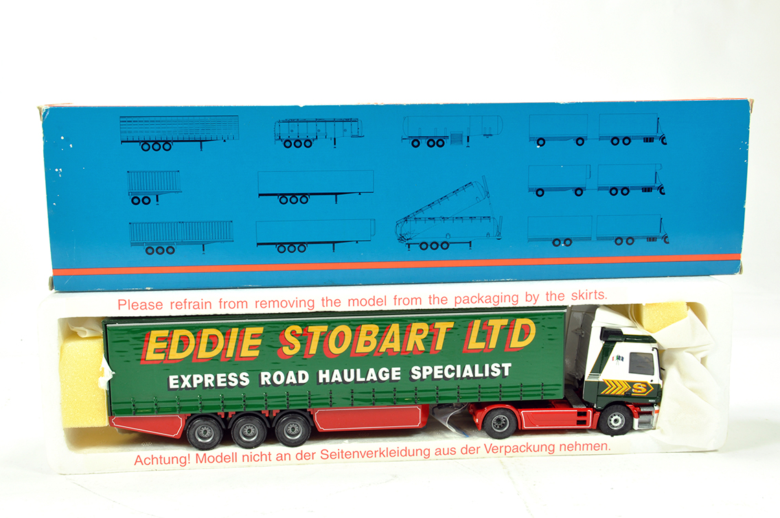 Lot 34 - Tekno 1/50 Diecast Truck Issue Comprising Volvo Curtainside in Livery of Eddie Stobart. NM to M in