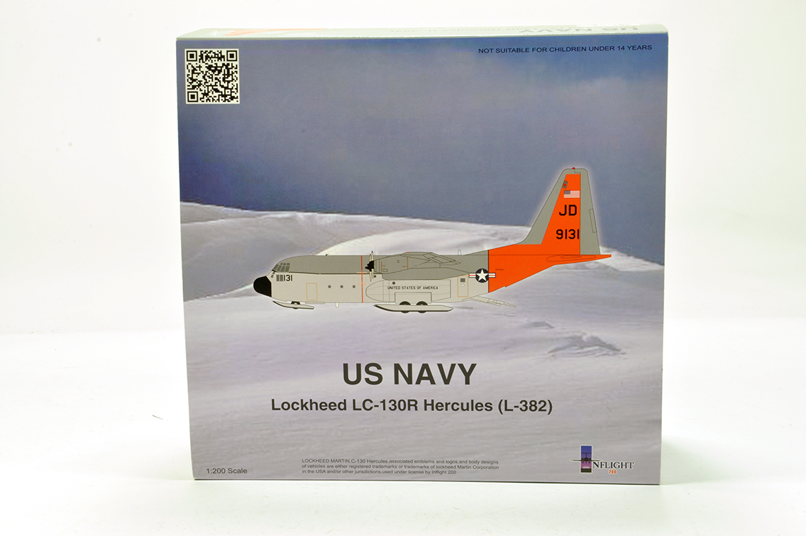 Lot 437 - Inflight Models 1/200 Aircraft issue comprising US NAvy Lockheed Hercules. E to NM in Box.