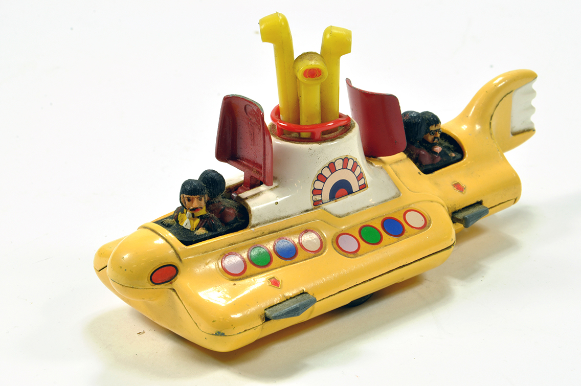 Lot 850 - Corgi No. 803 The Beatles Yellow Submarine. Generally G to VG.