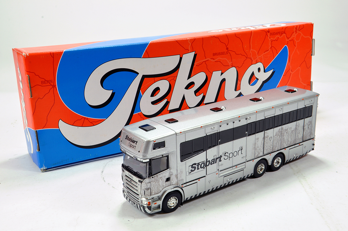 Lot 32 - Tekno 1/50 Diecast issue comprising Scania P340 Horse Transporter in Livery of Stobart. E to NM in