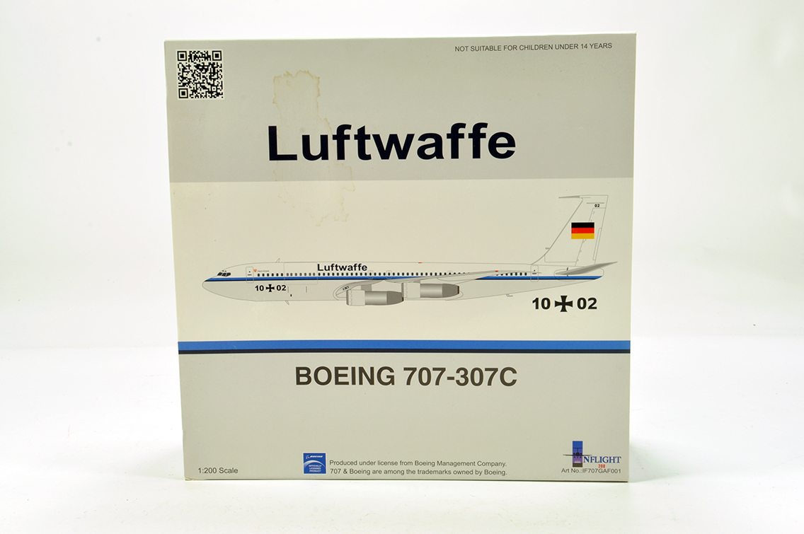 Lot 450 - Inflight Models 1/200 Aircraft issue comprising Boeing 707-307C Airliner in Livery of Luftwaffe. E