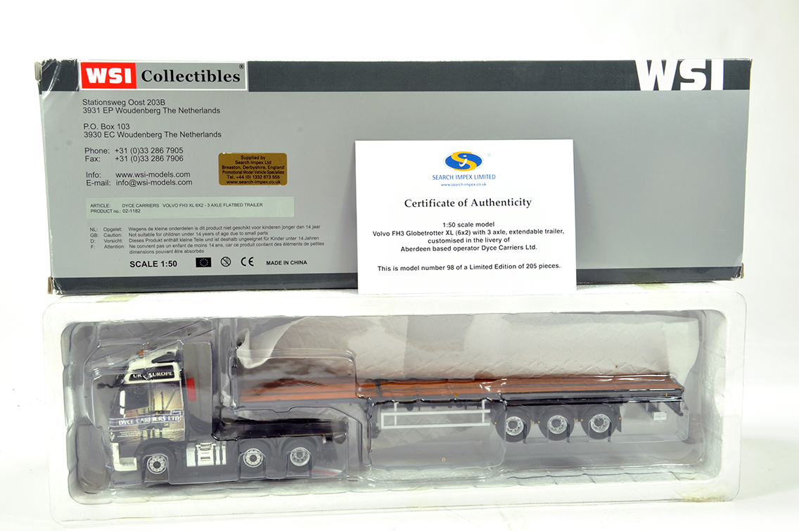 Lot 57 - WSI 1/50 High Detail Diecast Truck Issue comprising Search Impex Volvo FH3 with Extendable
