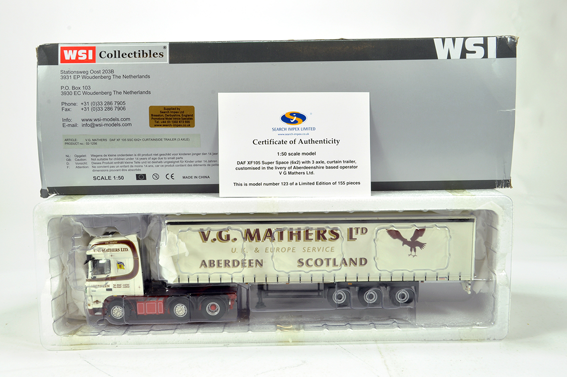 Lot 1 - WSI 1/50 High Detail Diecast Truck Issue comprising Search Impex DAF XF105 Super Space with 3 Axle