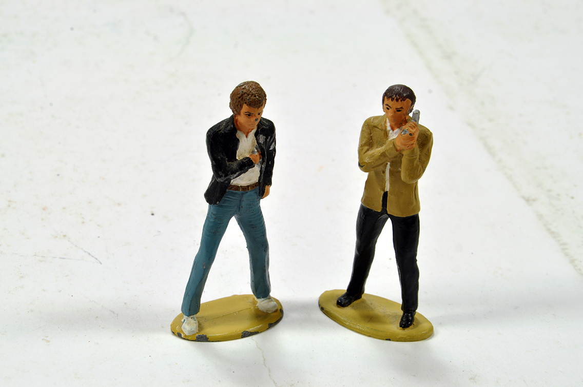 Lot 733 - The Professionals Hand Painted Metal Figure Duo.