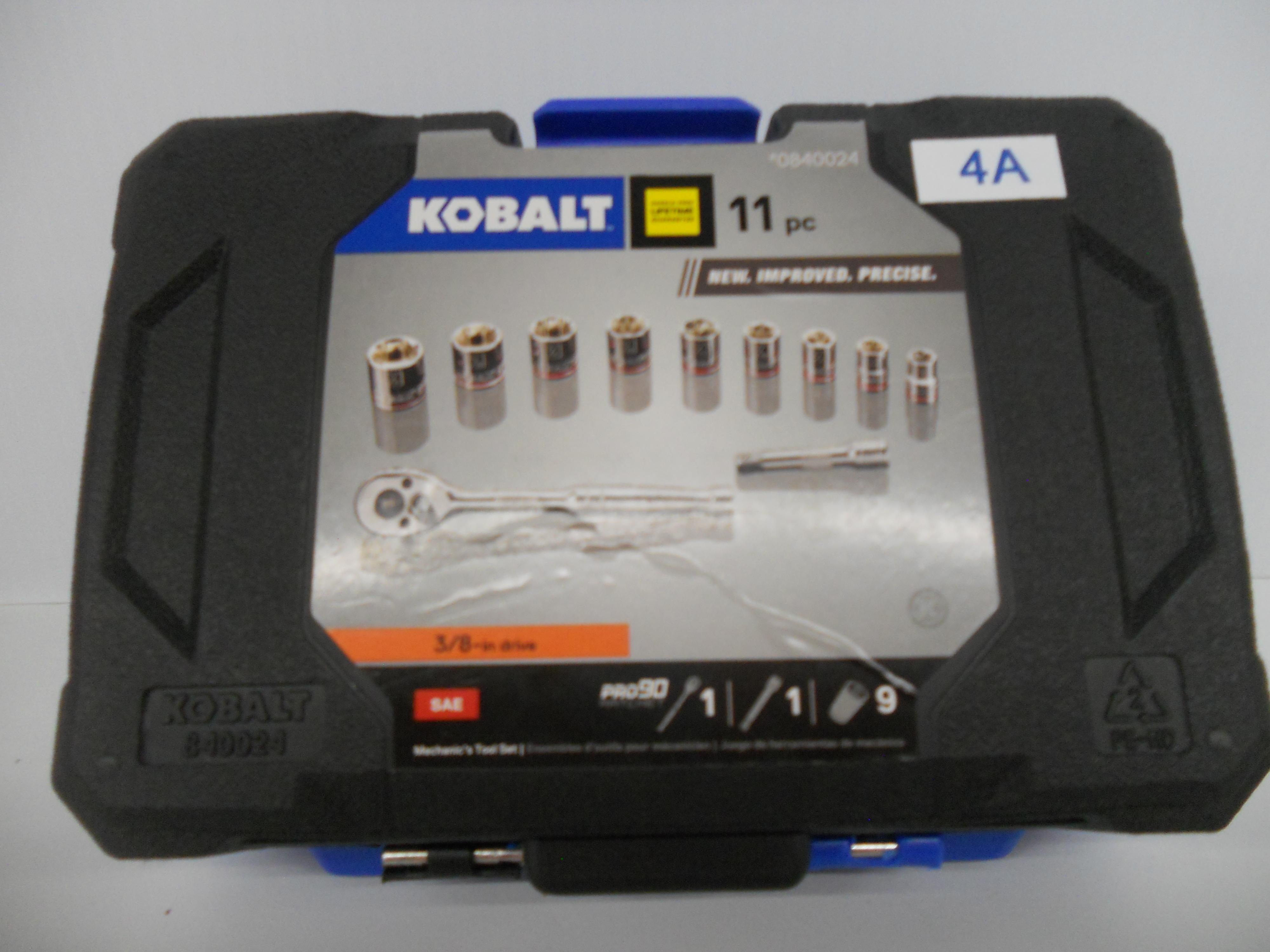 "Kobalt 11 piece 3/8"" SAE socket set"