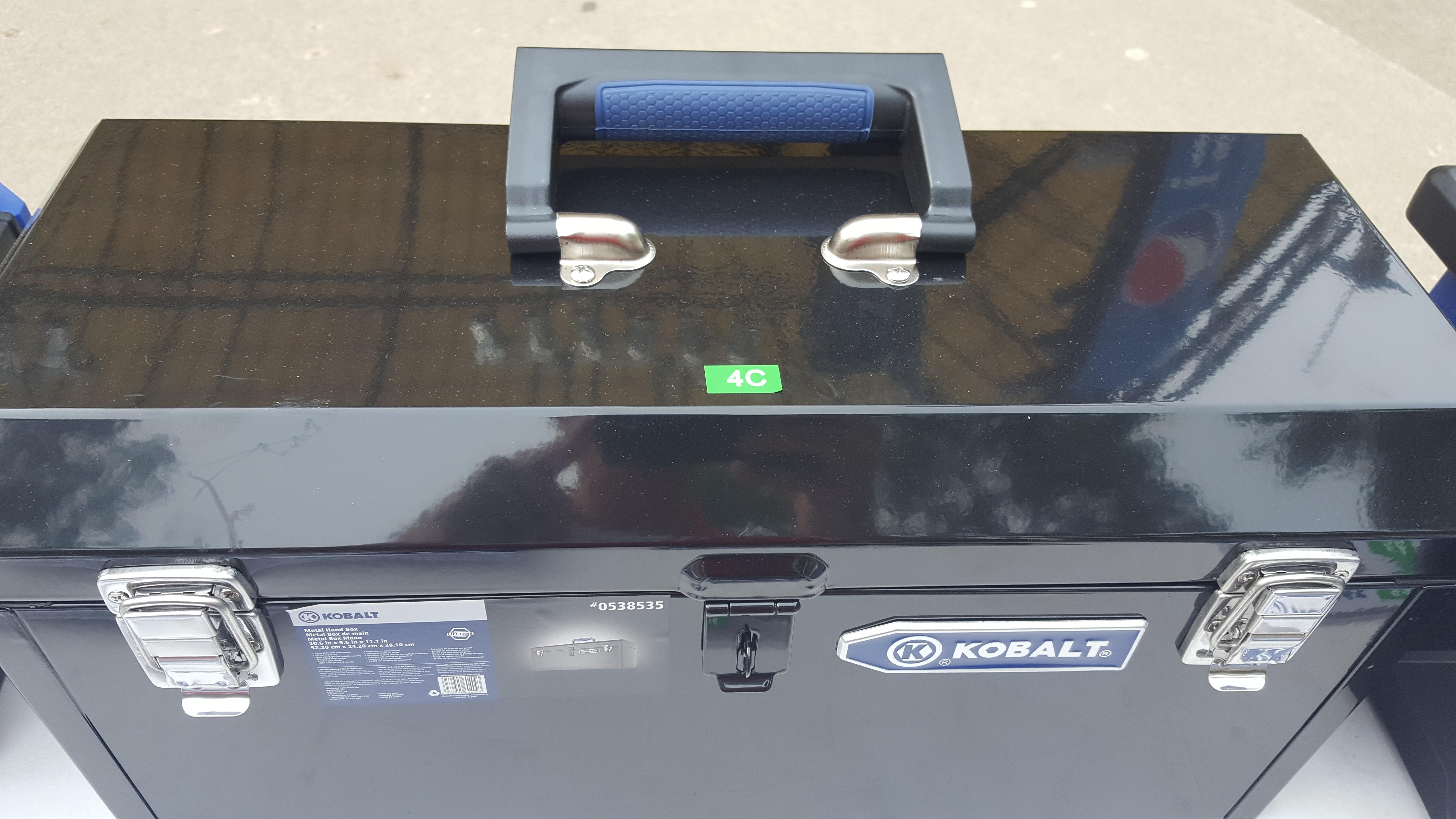 """Kobalt 20"""" metal Toolbox"""