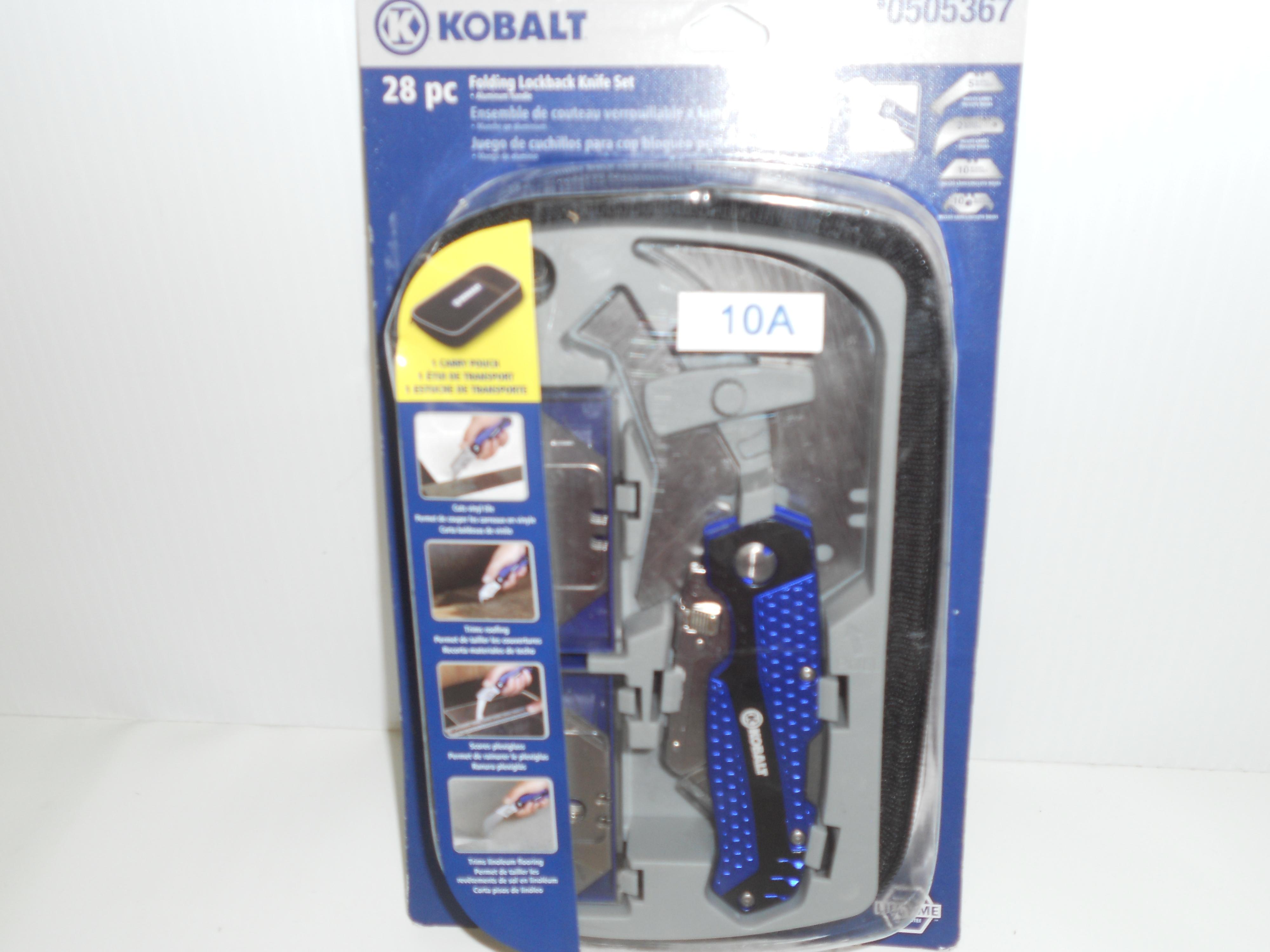 Kobalt 28- piece Folding lockback knife set