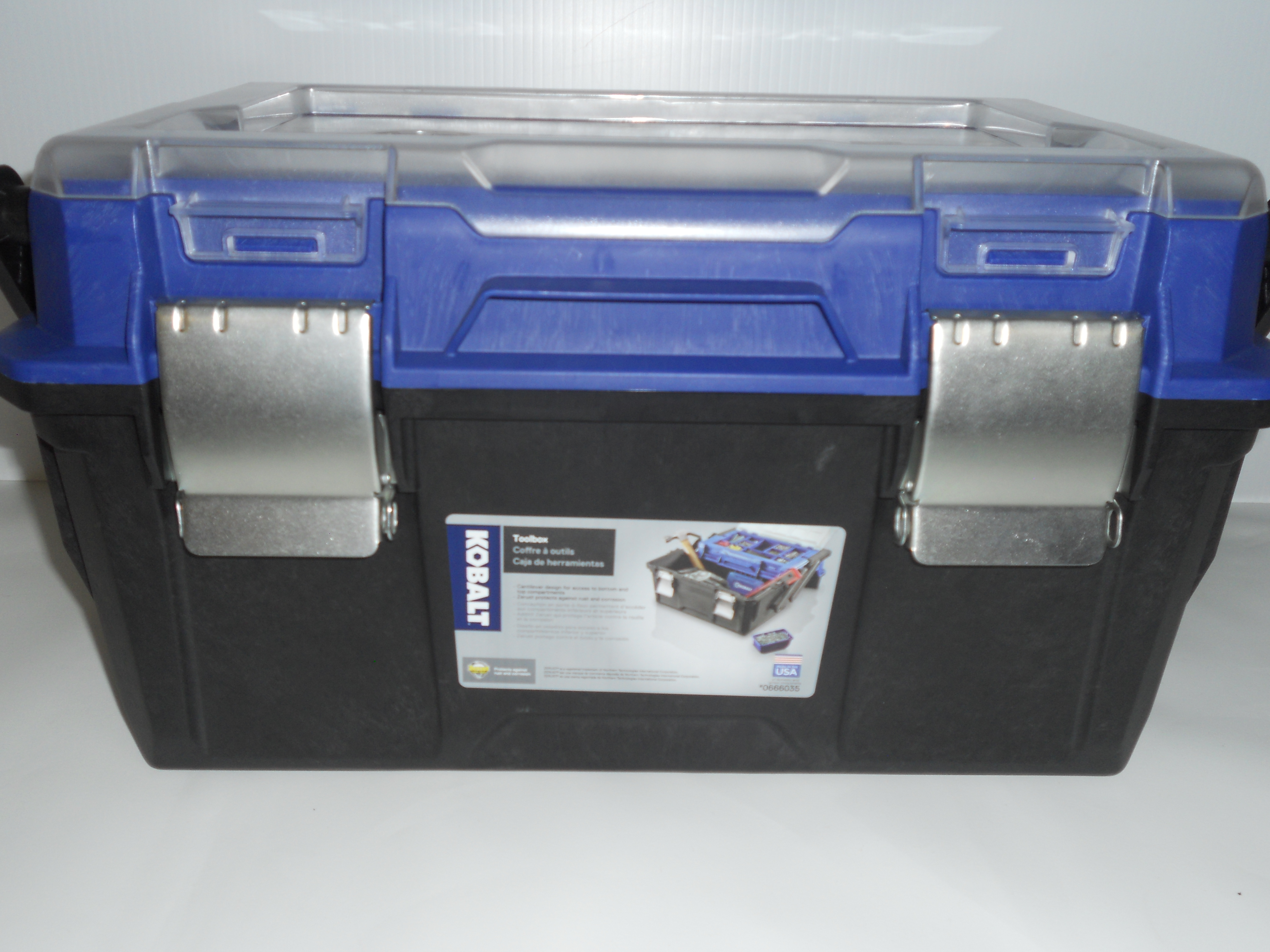 Kobalt Toolbox w/ organizer lid