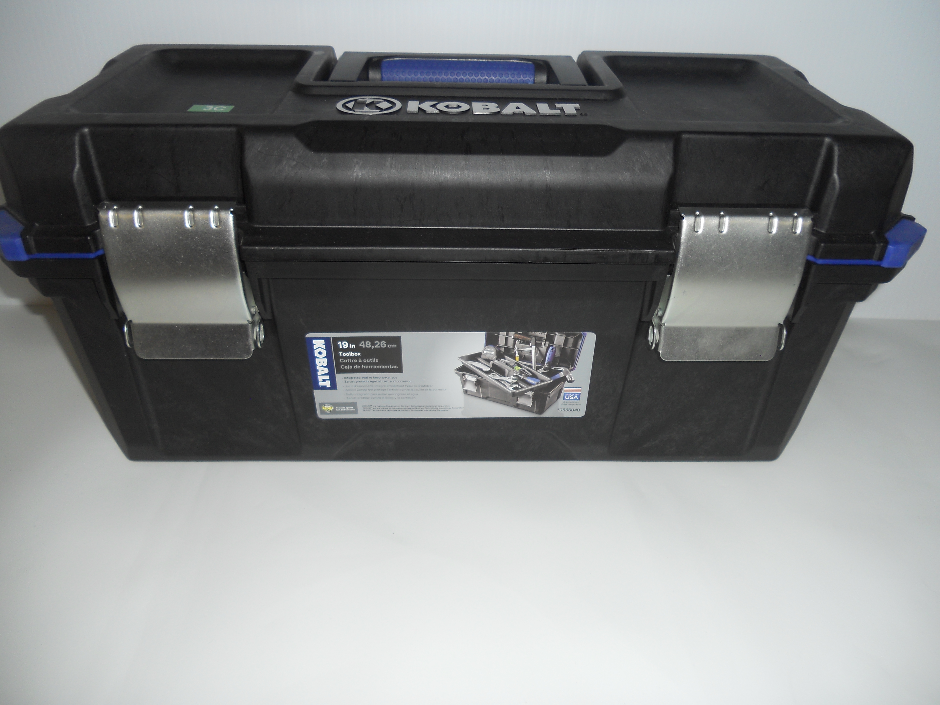 "Kobalt 19"" Toolbox with tray"