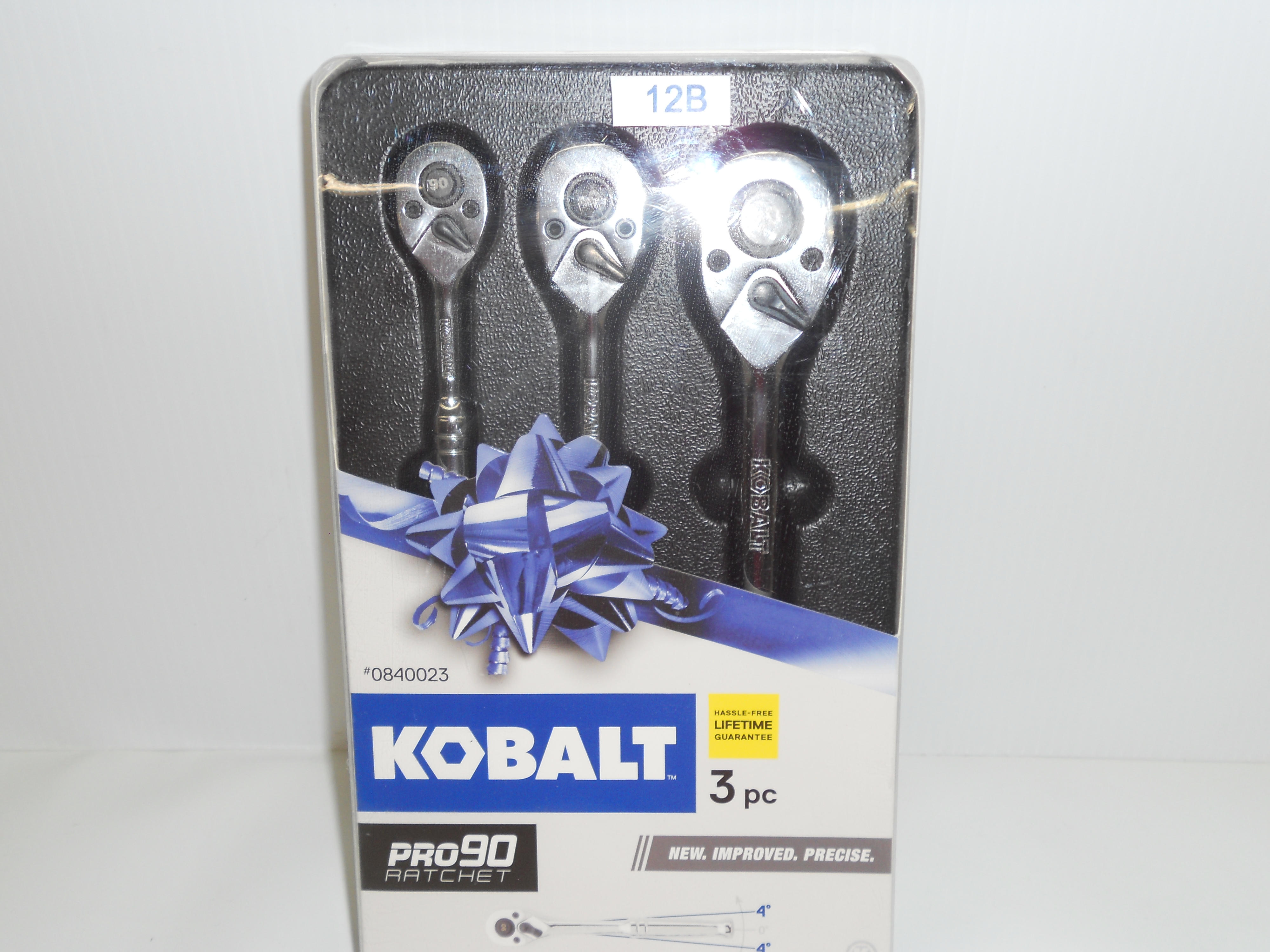 "Kobalt 3-piece ratchet set 1/4"", 3/8"", & 1/2"""