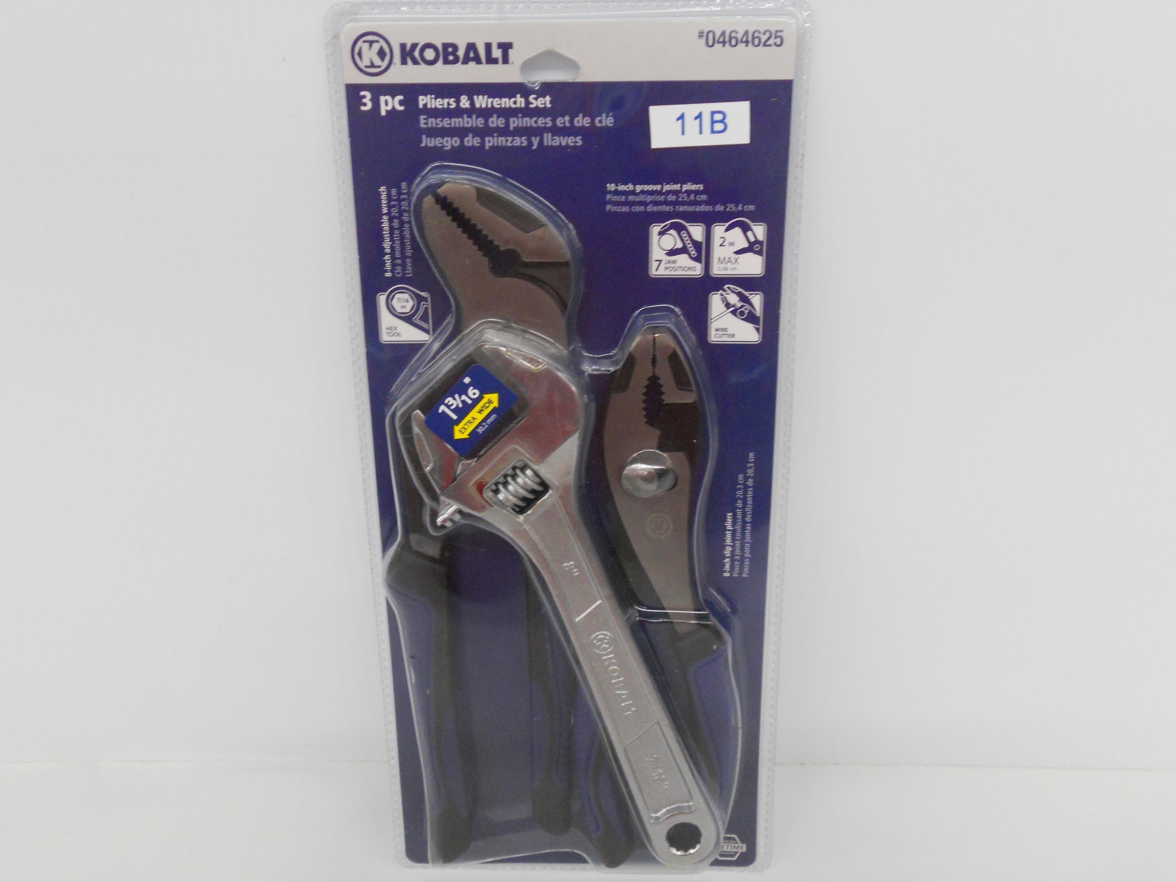 Kobalt 3-piece Plier & wrench set