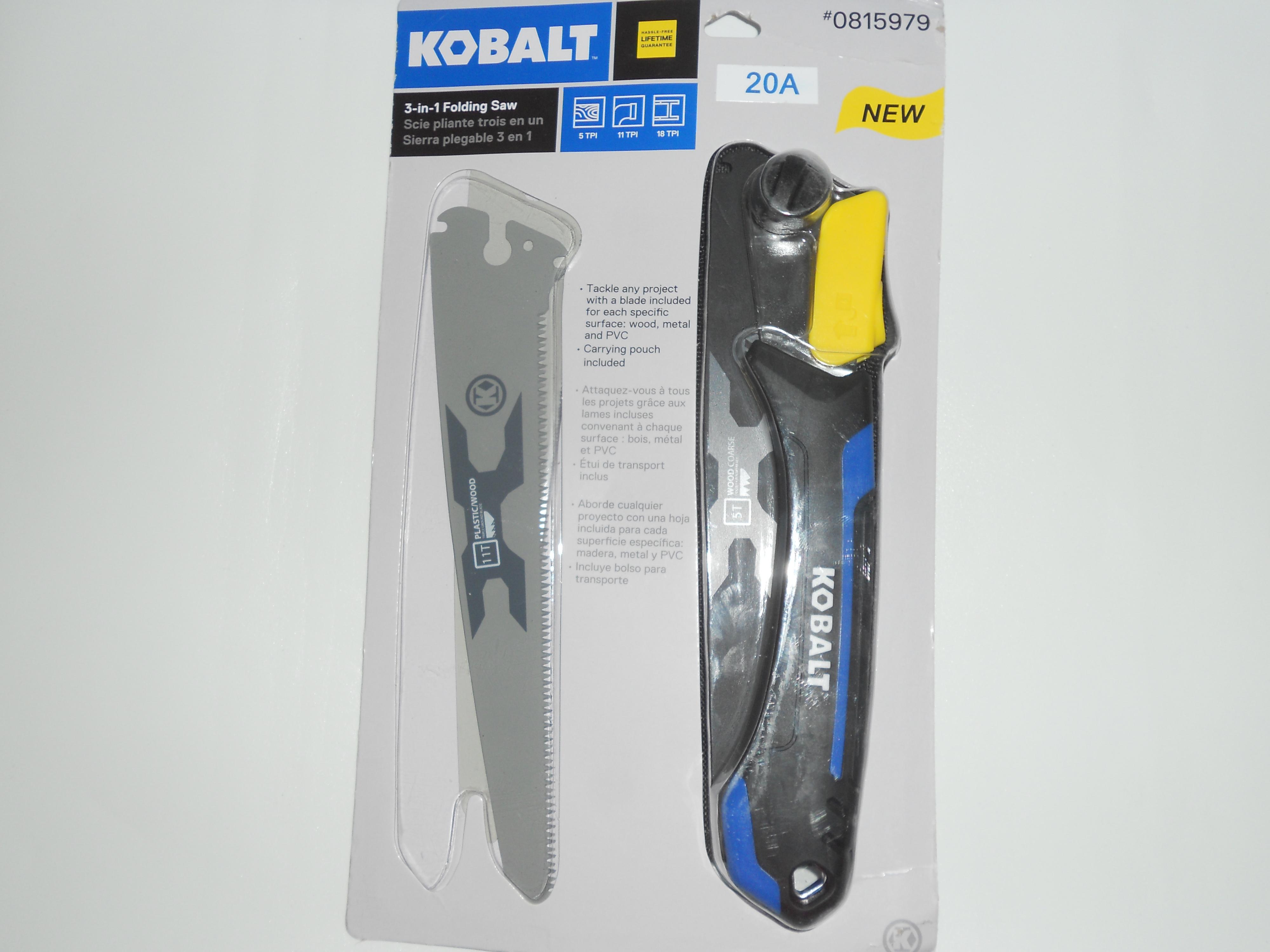 Kobalt 3-in-1 folding saw