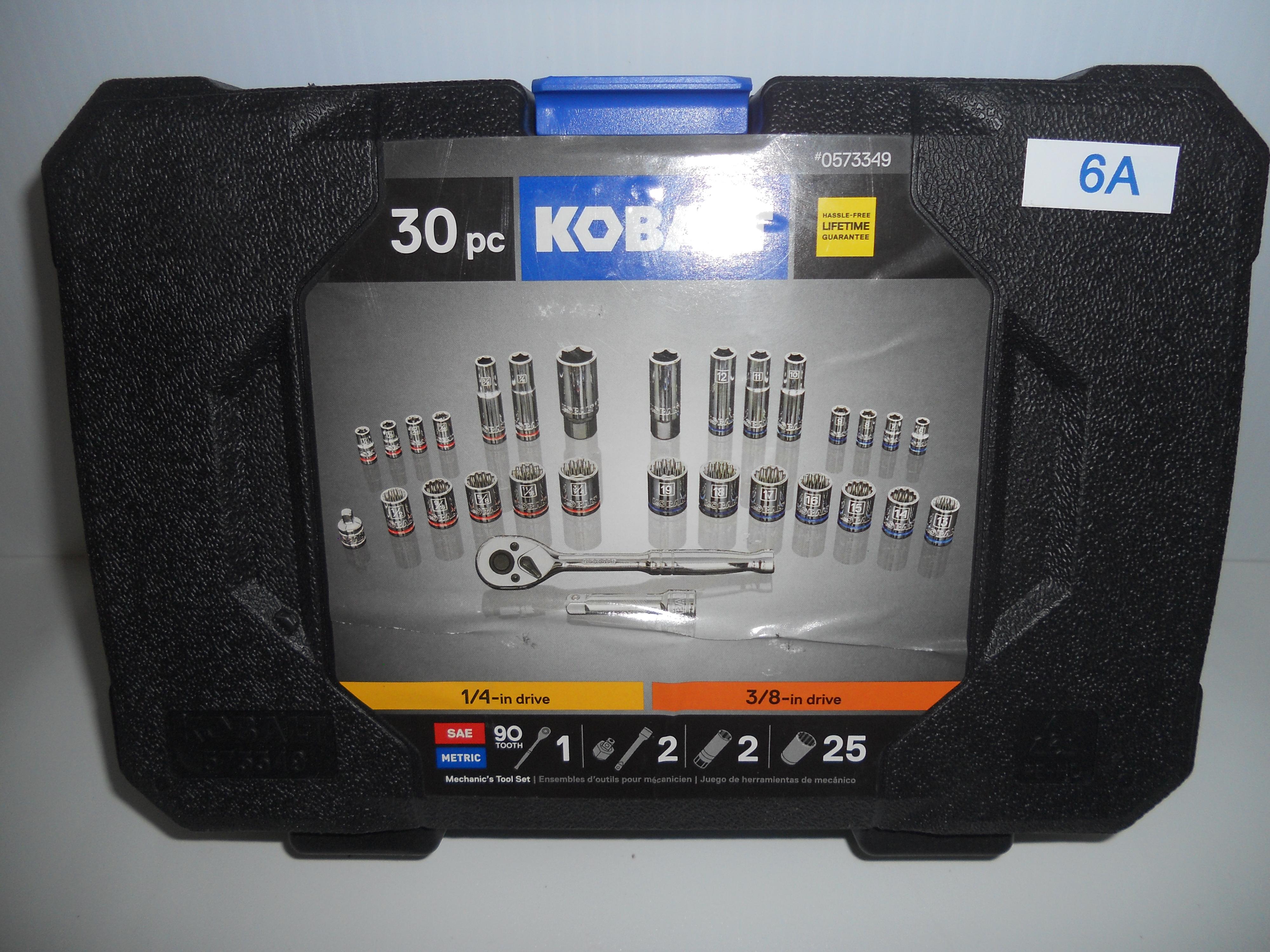 """Kobalt 30 piece SAE/Metric 1/4"""" & 3/8"""" socket set"""