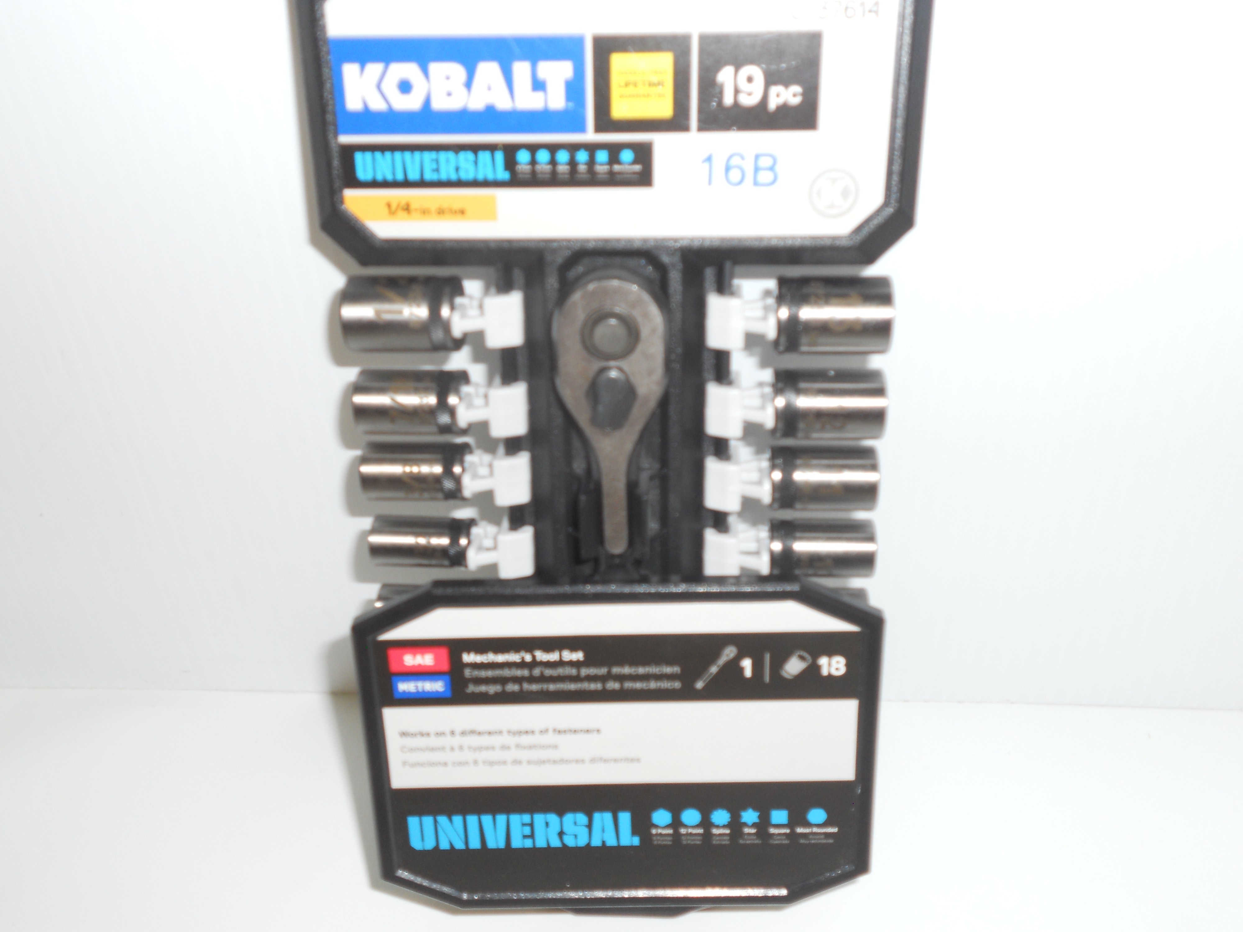 """Kobalt 1/4"""" SAE/Metric socket set"""