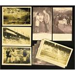 Olympic Games 1912 14 English athletic Postcards - 14 English black-and-white postcards from the