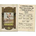 Olympic Games London 1908. Official Programm - Olympic Games of London 1908. IV.International