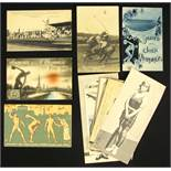 Olympic Games Paris 1924. 16 Postcards - 16 postcards from the Olympic Games in Paris in 1924. 14