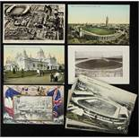 Olympic Games 1908. 14 Postcards London - 14 colour and black-and-white photo postcards from the