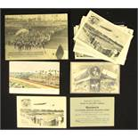 Olympic Games Berlin 1916. 11 Postcards - 11 postcards and a map with motives of the Olympic Games
