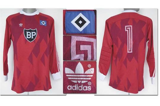 match worn football shirt Hamburger SV 198687 Original