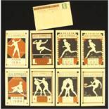 """Olympic Games Paris 1924. 9 French Postcards - Coloured lithographic French postcard """"Olympic"""