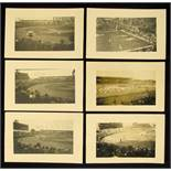 Olympic Games Paris 1924. 6 Englisch Postcards - Six English black-and-white photo postcards from