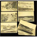"""Inter Allied Games 1919 18 Postcards Olympic 1920 - 18 black-and-white photo postcards from the """""""