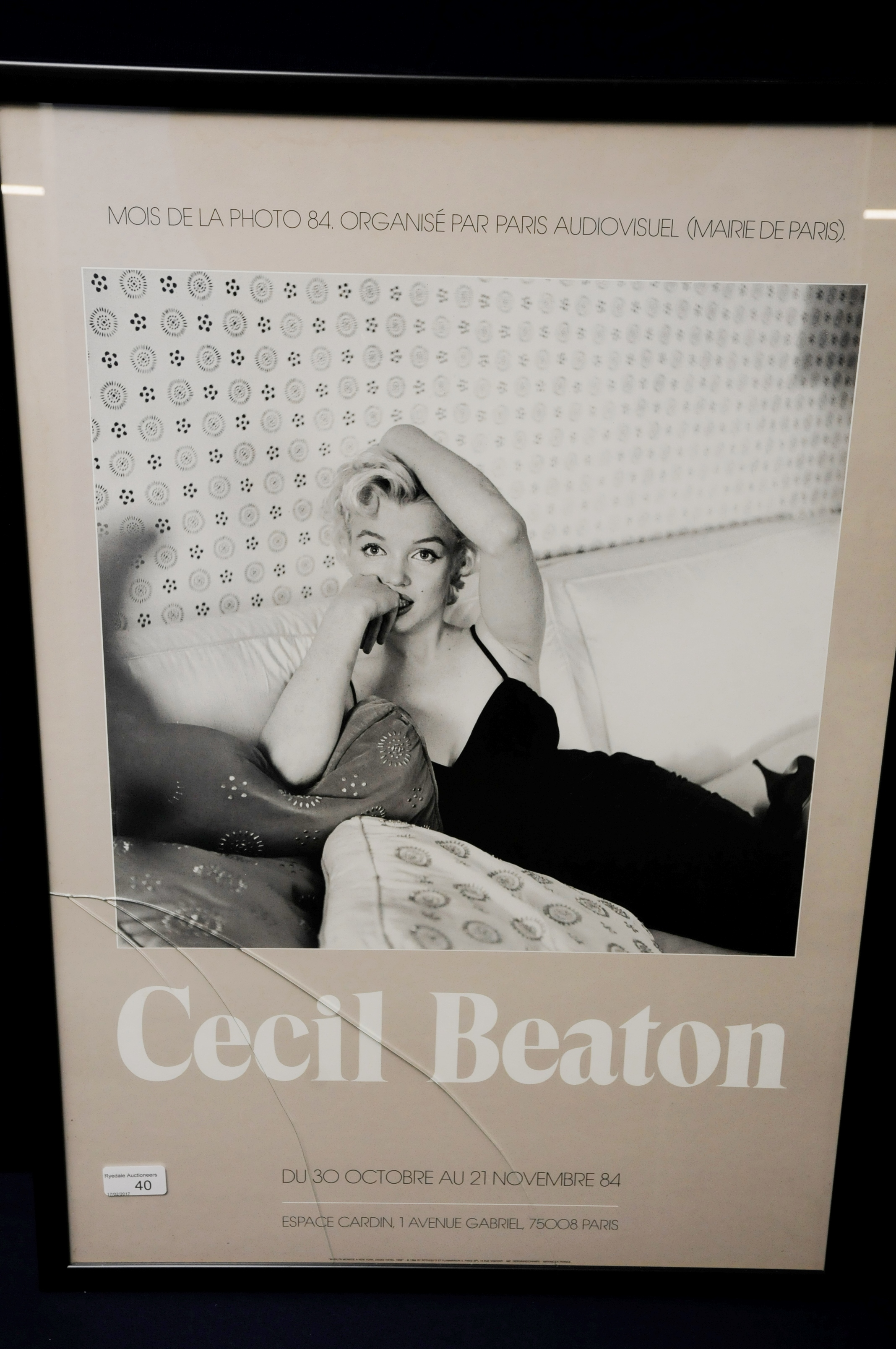 Framed print of a Cecil Beaton French advertising poster \'Marilyn ...