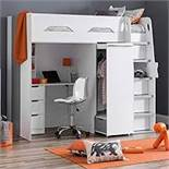 Boxed Pegasos White And Silver High Sleeper Bed RRP £650 (Appraisals Available Upon Request)(