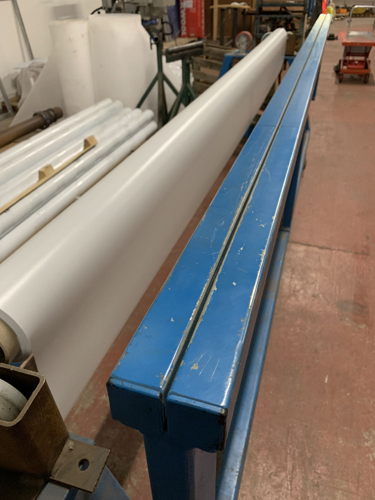"""Mobile Material roller with cutting off rest. 10' (120"""") maximum material length. - Image 4 of 4"""