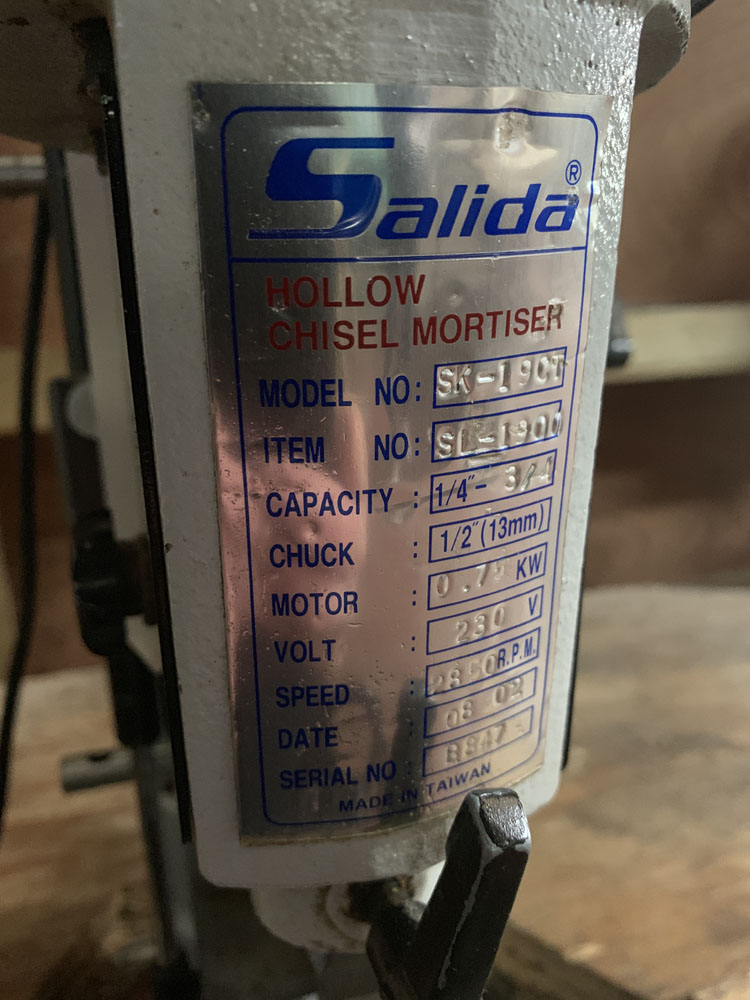 Salida Model SK-19CT 1/4'' - 3/4 Hollow Chisel Mortiser. Single Phase - Image 3 of 5