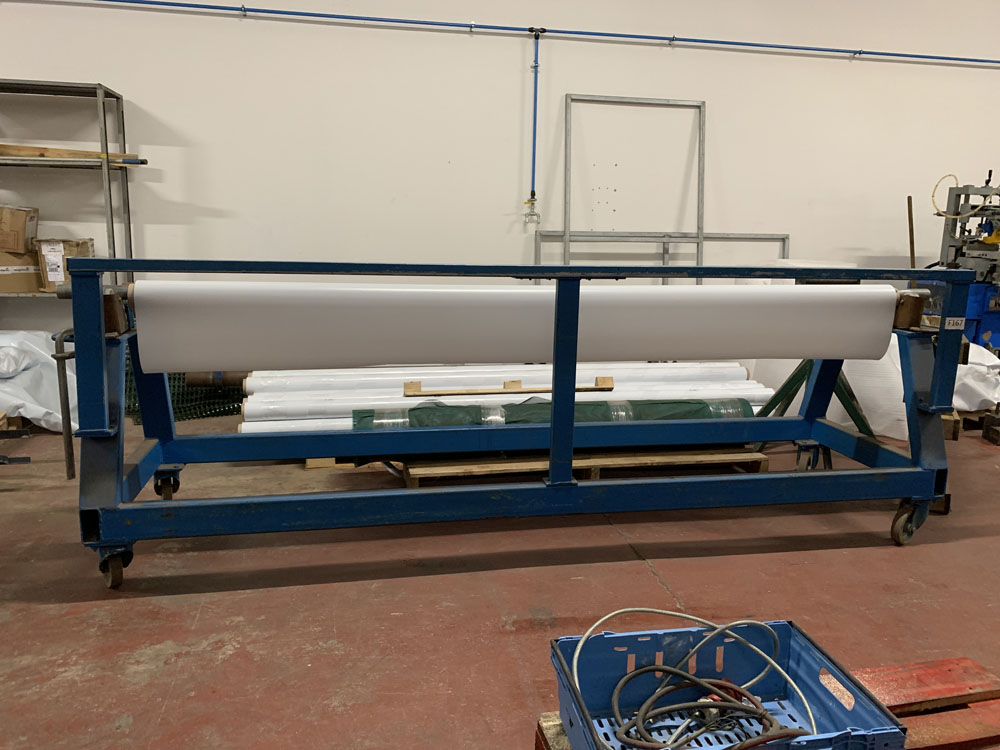 """Mobile Material roller with cutting off rest. 10' (120"""") maximum material length. - Image 2 of 4"""